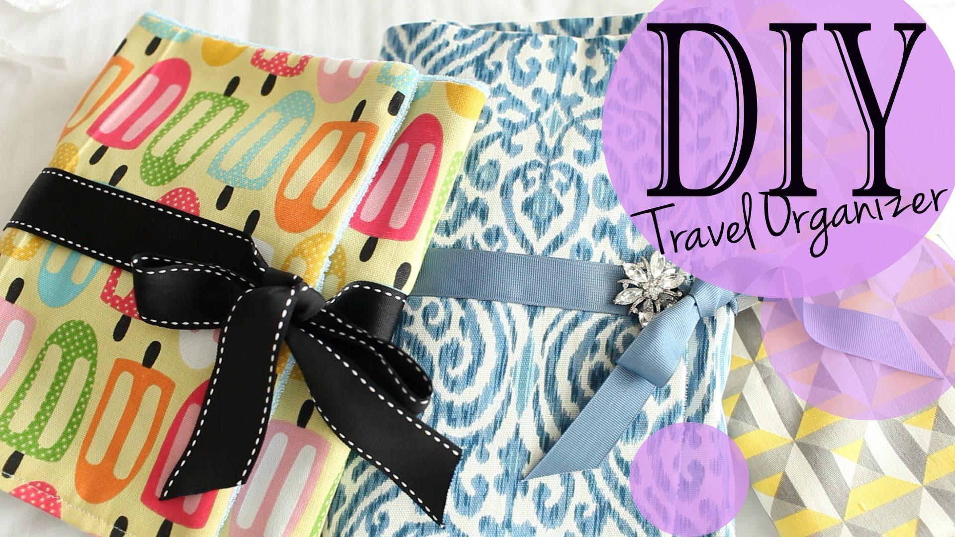 DIY Travel Accessory & Makeup Brush Organizer Tutorial | ANNEORSHINE