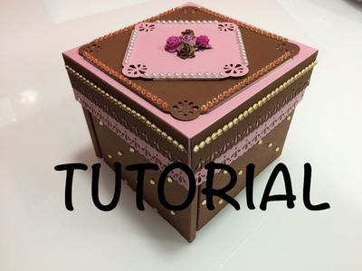 DIY Tutorial exploding box diferente parte 1