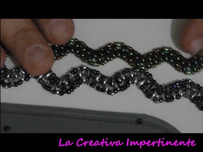 "DIY twin beads. superduo bracelet - Tutorial bracciale ""Onda"""