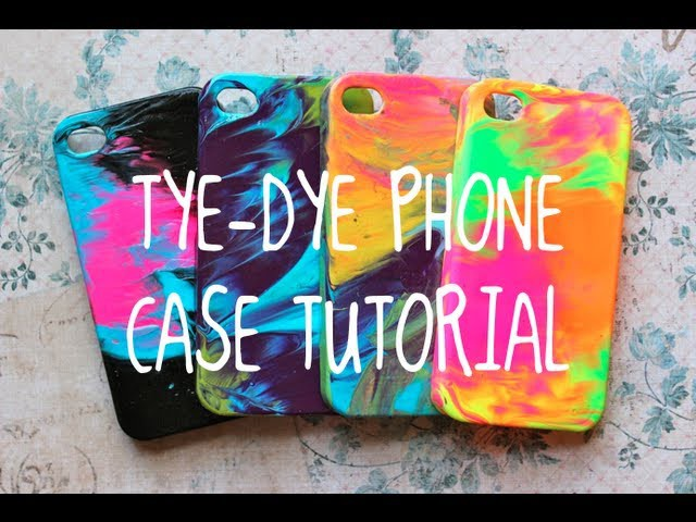 DIY TYE DYE Case Tutorial! (SUPER EASY!!)