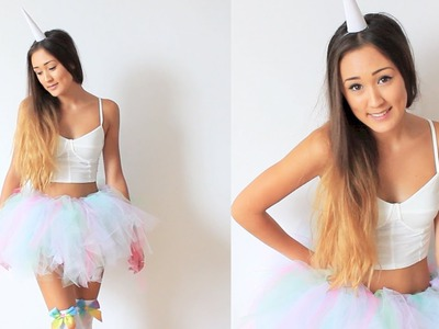 DIY Unicorn Halloween Costume & Tutu Tutorial | LaurDIY
