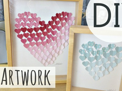 DIY Valentine's Day Gift Idea | 3D Heart Art (EASY DIY) ♥ | by Michele Baratta