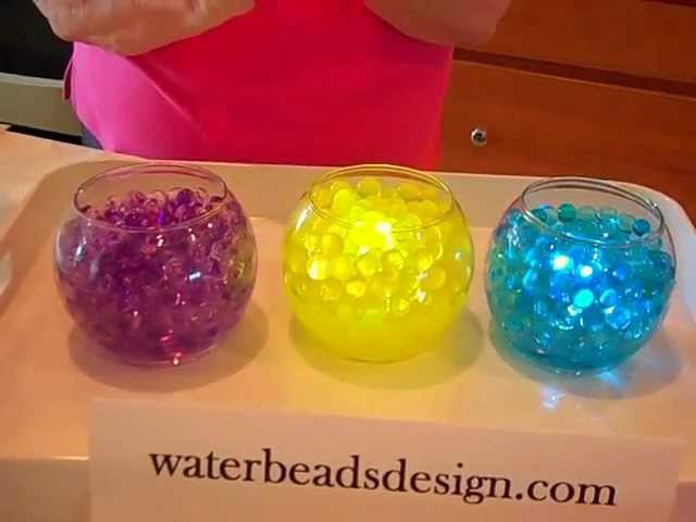 DIY Wedding Centerpieces with water beads