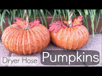 Dryer Hose Pumpkin How To! Home Decor. FALL into CRAFTS.