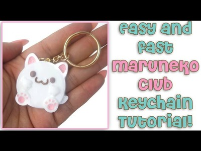 Easy & Fast Maruneko Club Keychain Resin Tutorial!