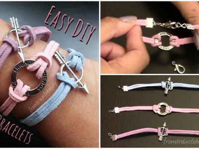 Easy DIY Suede Bracelet - Back to School Tutorial | FromBrainsToBeauty