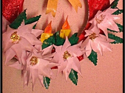 Easy Kids Crafts.  PAPER Wreath