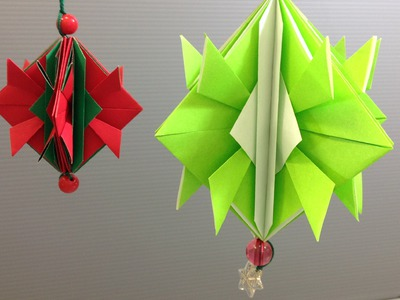 Easy Origami Christmas Ornament Decoration