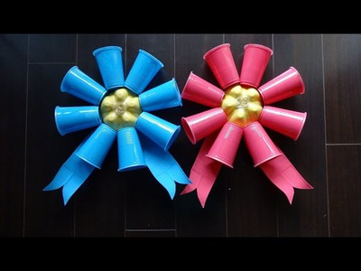 Easy Recycled Projects: Funny Birthday Ribbon from Plastic Bottles for Adults