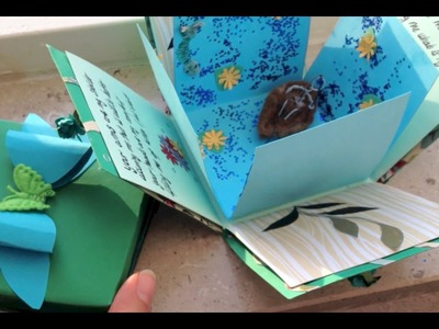 Exploding box card and bow DIY