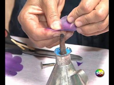 Faça em Casa   Flor de Garrafa PET   SBT Brasília  20 01 12