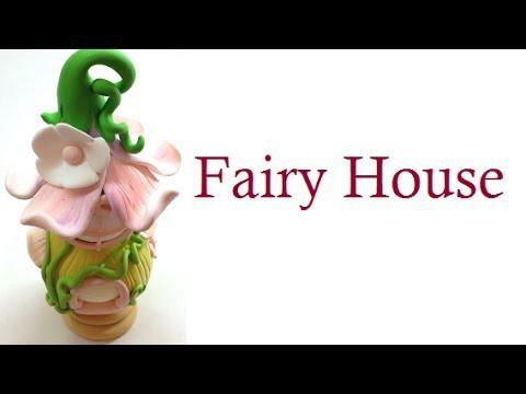 Fairy house.casa de fada- Polymer clay (fimo) tutorial