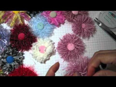 Fiber ribbon flower Tutorial