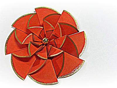 Flores de papel fáciles. Paper flowers easy.
