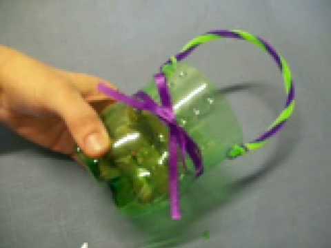 Flower Basket by OneMinuteCrafts.com