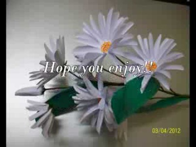 Flower making tutorial - how to make a simple flower