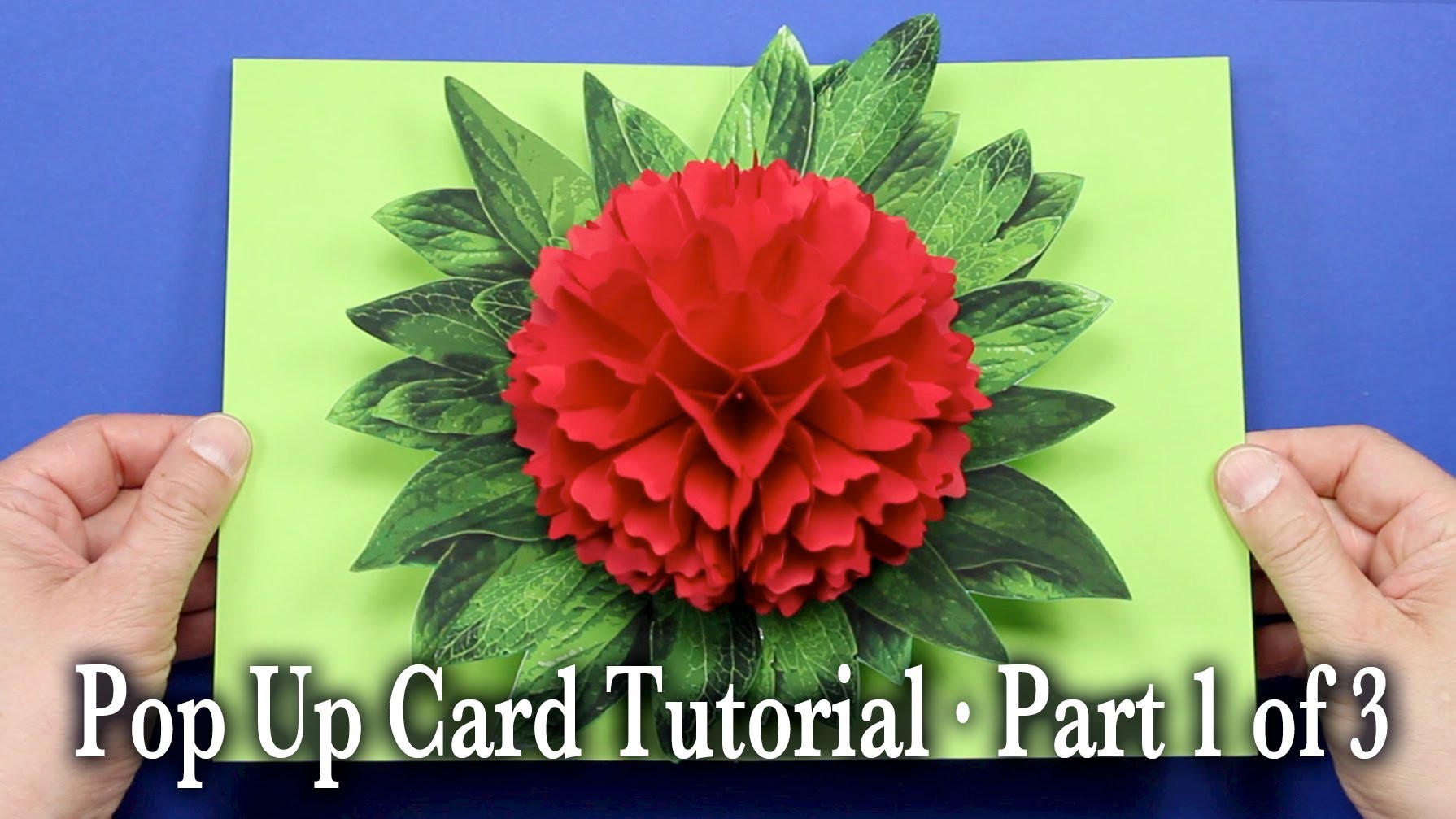 Flower Pop Up Card Tutorial Part 1 of 3