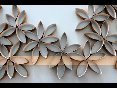 Flowers using toilet paper rolls (DIY)
