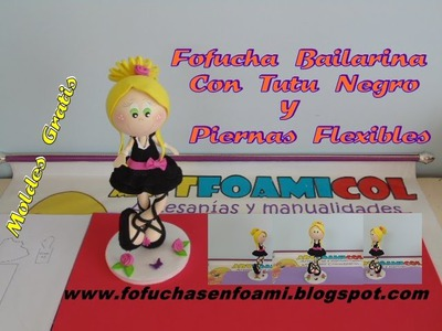 FOFUCHA PRINCESA  BAILARINA CON TUTU Y PIERNAS  FLEXIBLES