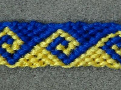 ► Friendship Bracelet Tutorial 34 - Intermediate - The Greek Wave