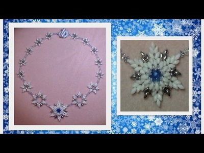 Frosted Feelings (beaded snowflakes) Beading Tutorial by HoneyBeads