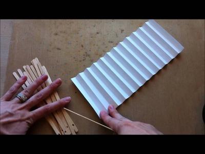 Handmade Paper Fan ~ Tutorial ~