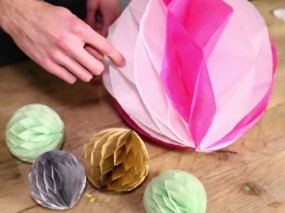 Honeycomb Pom Pom DIY tutorial