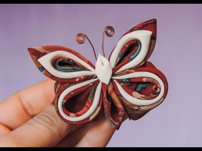 How to DIY Pretty Silk Ribbon Butterfly - Tutorials .