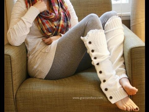 How to Knit Lacey Legs
