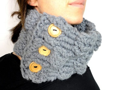 How to Loom Knit a Basket Weave Cowl with a rectangular loom (DIY Tutorial)