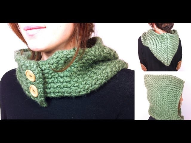 How to Loom Knit a Hooded Cowl (DIY Tutorial)