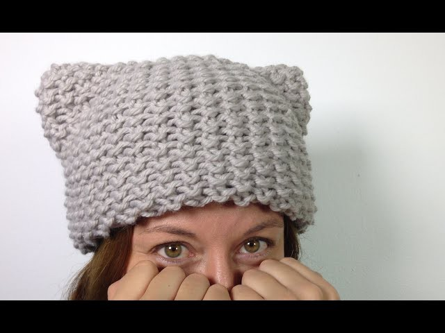 How to Loom Knit a Kitty Hat (Cat Ears Hat) [SUPER EASY] - DIY TUTORIAL