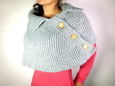 How to Loom Knit a Poncho Cape (DIY Tutorial)