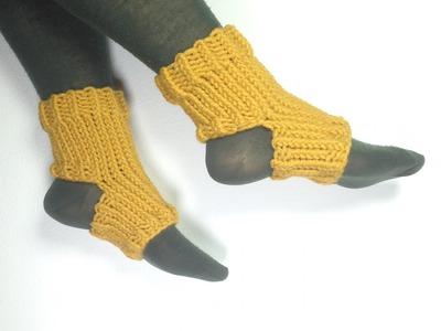 How to Loom Knit Yoga Socks (DIY Tutorial)