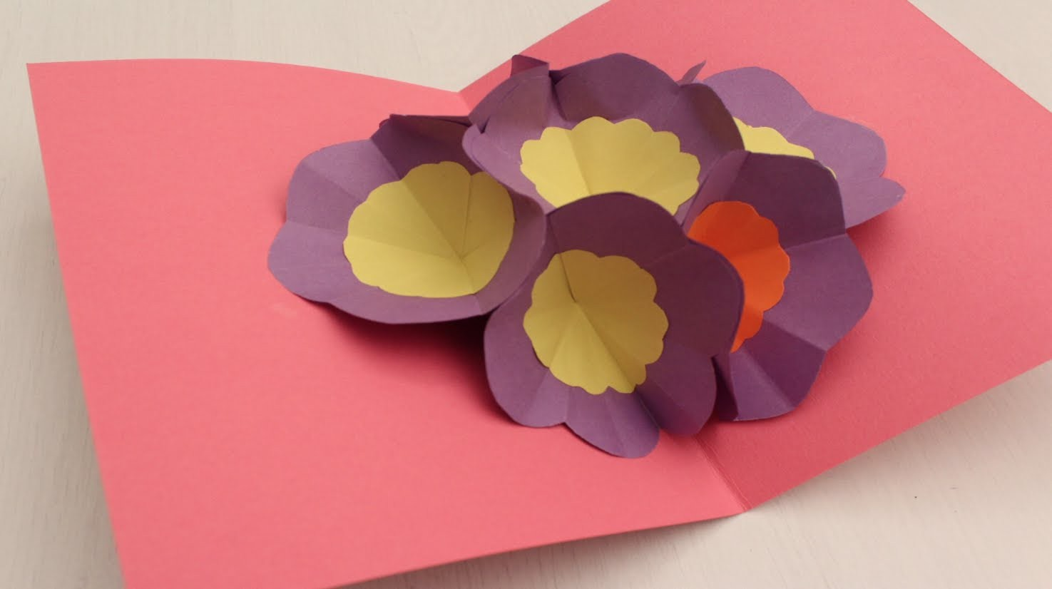 How to make a 3D Flower POP UP Greeting Card