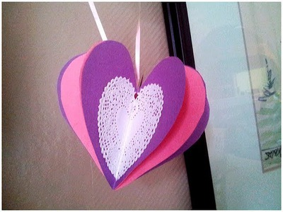 How to make a 3D Paper Heart Valentine's Day Craft