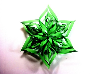 How to Make a 3D Paper Star Xmas Ornament (DIY Tutorial)