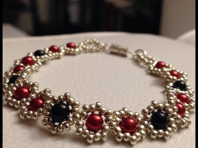 How to Make a Flower Bead Bracelet