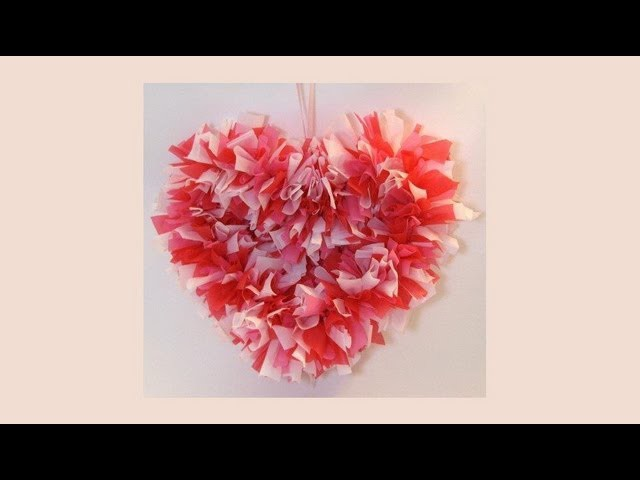 How To Make A Heart Shaped Wreath for Valentine's Day.Bedroom Decoration