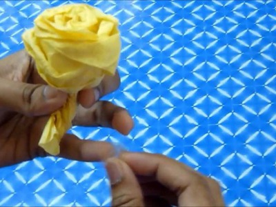 How to make a Rose with Tissue paper (Rose no.2)