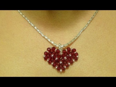 How to make a small heart pendant . DIY Valentine's day project