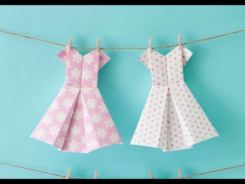 How to make an origami dress - craft tutorial
