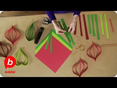 How to Make Christmas Paper Ornament Decorations   Crafts   Babble