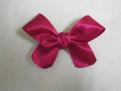 How to make easy hair bow, DIY, Tutorial, ribbon hairbow
