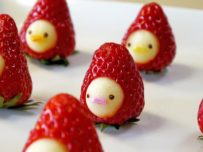 "How to make "" Strawberry Men"" Moso-Style いちごマン 作り方"