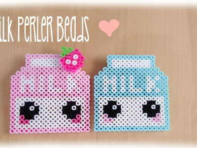 Kawaii Milk Perler Bead Crafting Tutorial