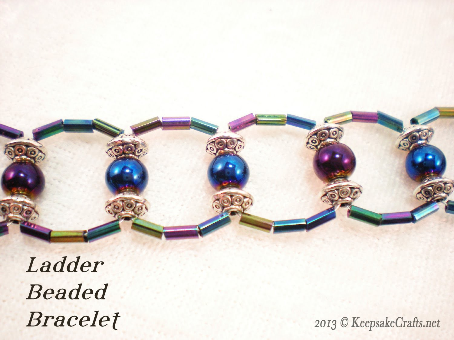 Ladder Weave Beaded Bracelet Video Tutorial