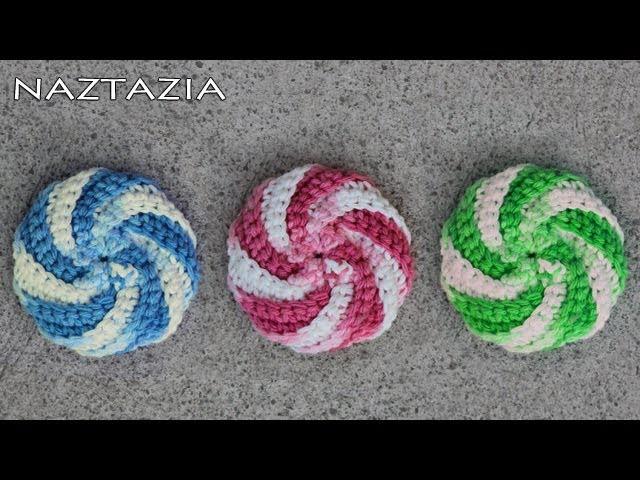 Learn How to Crochet - Spiral Scrubbie Tutorial (Dishcloth Washcloth Tribble Tawashi Scrubby)