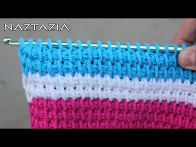 Learn How to Tunisian Crochet - Beginner Tunisian, Afghan stitch, Simple Stitch, TSS, Tunecino