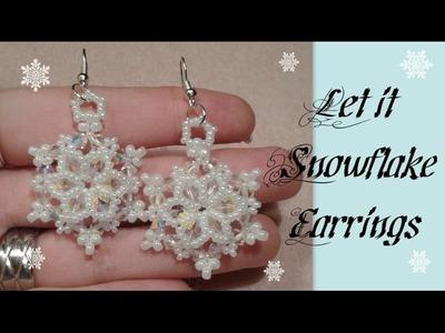 Let it Snowflake Earrings Beading Tutorial by HoneyBeads